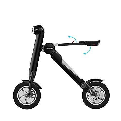 WQY Bicicleta Plegable Smart Music LED Scooter Eléctrico 36V 10A 250W Batería Bicicleta Eléctrica ET Vehículo Ebike