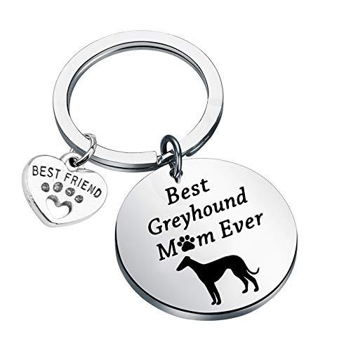 Greyhound Owner Keychain Best Greyhound Mom Ever Dog Lover Gifts Greyhound...