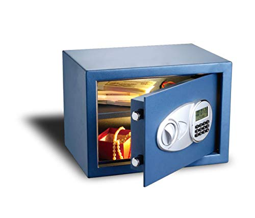 Cofre Eletrônico Com Compartimento De Baterias Extras Safewell 30 Eid Preto