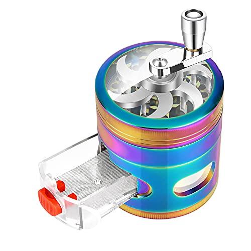 2.5 inch 4 Piece Hand Cranked Rainbow Grinder