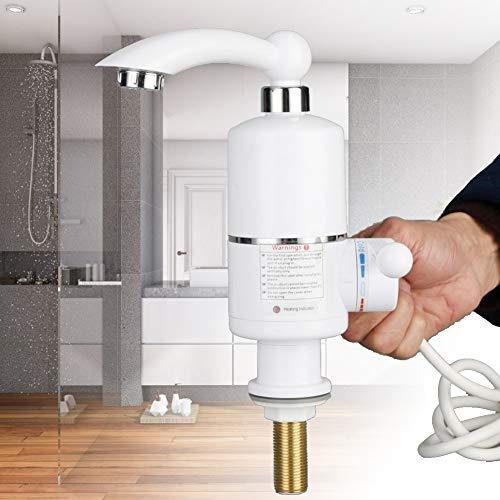 Instant Warmwasserhahn, 3000W Elektrische Warmwasserbereiter Wasserhahn drehbar Instant Heißwass Elektrische Warmwasserbereiter, 30-60°C (045)