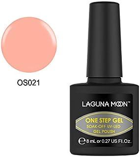 Lagunamoon Esmaltes Semipermanentes 3 in 1 Esmalte de Uñas en Gel VU LED One Step Esmaltes de Uñas Soak Off para Manicur...