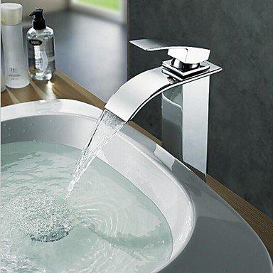 Miaoge charmingwater eigentijdse waterval verchroomd messing enkele handgreep badkamer pot kraan