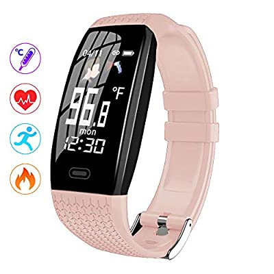 BestFit Fitness Tracker 2020 Ver, Activity Tracker with Body Temperature,Sleep Monitor and Heart Rate Monitor,Waterproof Smart Fitness Band with Step Counter, Calorie Counter,Pedometer Watch for Men