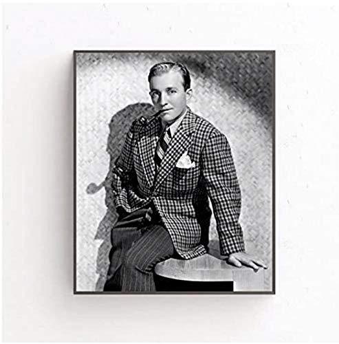 W15Y8 Póster De Bing Crosby, Póster Artístico De Estrella De Cine, Decoración De Pared, Cuadros Artísticos En Lienzo, Impresión Artística En Lienzo De 24X32 Pulgadas, Sin Marco