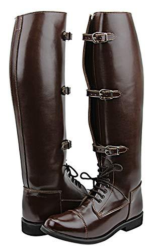 Hispar Women Ladies Stallion Field Horse Riding Boots Stylish Fashion Equestrian Brown