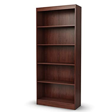 South Shore Axess Collection 5-Shelf Bookcase, Royal Cherry
