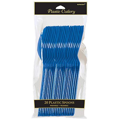 amscan cucharas de plástico, Color Azul