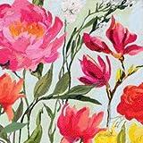 Home Collection Casa Cucina Decorazione Accessori Set 40 Tovaglioli Monouso Carta 3 veli 33 x 33 cm Motivo Prato di Fiori