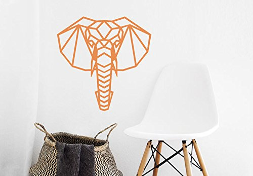Adhesivo decorativo para pared, diseño de elefante de origami