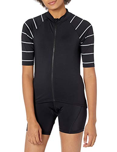 Amazon Essentials Short-Sleeve Cycling Jersey Athletic-Shirts, Nero, M
