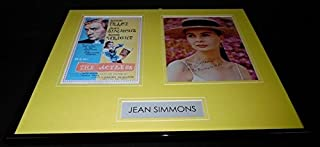 Jean Simmons Signed Framed 16x20 Photo Display The Actress Inscription