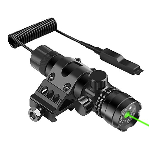 Feyachi GL6 Green Laser Sight with 45 Degree P13 Picatinny Rail Mount and Pressure Switch