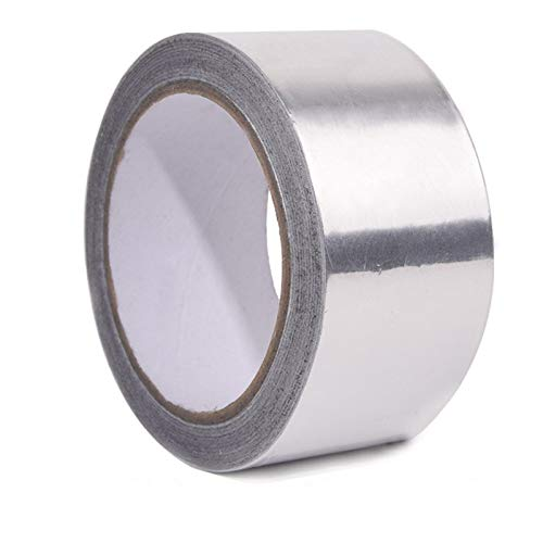 VEHMIZE Aluminum Foil Tape It is 1.97 Inches Wide, 82 Feet Long and 3.9mil Thick,Perfect for Sealing & Patching Hot and Cold HVAC, Duct, Pipe, Insulation Home and Multifunctional Silver Metal Tape