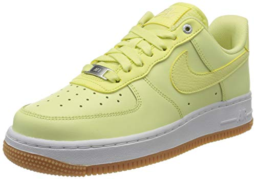 Nike Wmns Air Force 1 '07 PRM, Zapatos de Baloncesto, Verde (Luminous Green/Luminous Green/Gum Med Brown/White 302), 35.5 EU