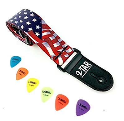 Vegan Stars & Stripes American Flag Guitar Strap