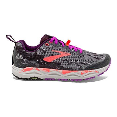 Brooks Caldera 3, Chaussures de Running Femme, Noir (Black/Purple/Coral 080), 39 EU