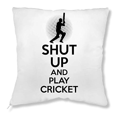 ShutUp and Play Cricket Kissen
