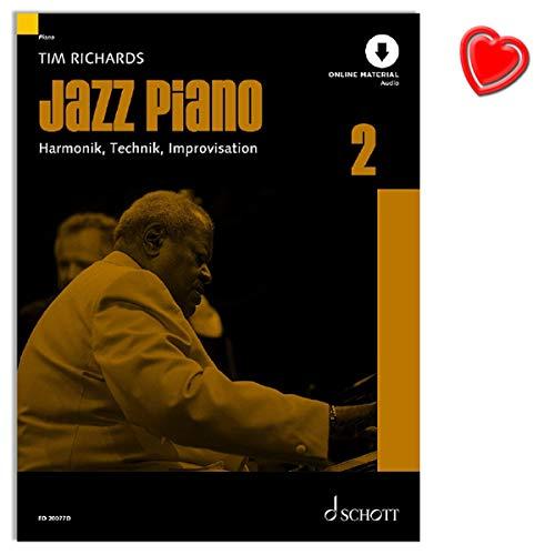 Jazz Piano Band 2 - Reihe: Modern Piano Styles - Harmonik, Technik, Improvisation - Lehrmaterial mit Online Audio und Notenklammer