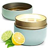Home Lights 6OZ High Scented Candle,Natural Soy Wax,Unique Jar Candle, Gifts for Festival | Wedding | Anniversary | Lemon & Lime