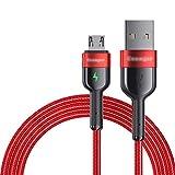 ZRJ Cable Clásico Cable Micro USB Cable de Cargador rápido Durable Android USB Cable de Carga USB A A Micro USB para Dispositivo de Interfaz Micro (2M) Cable Portátil (Color : Red)