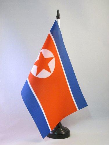 AZ FLAG TISCHFLAGGE NORDKOREA 21x14cm - NORDKOREANISCHE TISCHFAHNE 14 x 21 cm - flaggen