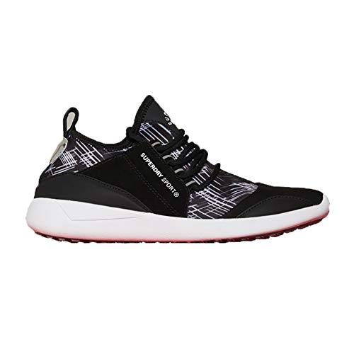 Superdry SD Superlite Chaussures de Course Noir/Motion Lines Mono - Noir - Noir, 36.5 EU