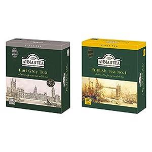 【セット買い】AHMAD TEA ( アーマッドティー ) アールグレイ ティーバッグ 100袋入り [ 英国ブランド 個包装 ] & TEA ( アーマッドティー ) イングリッシュティーNo.1 ティーバッグ 100袋入り [ 英国ブランド 個包装 ]
