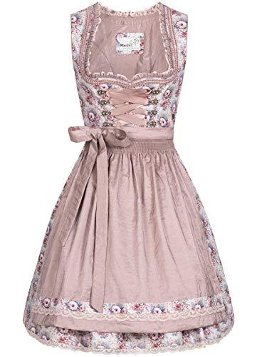 MarJo Trachten - Vestito Tradizionale Bavarese da Donna, Stile Tradizionale Bavarese, Modello Mini Dirndl Fancy in Mauve Mauve (6054) 38