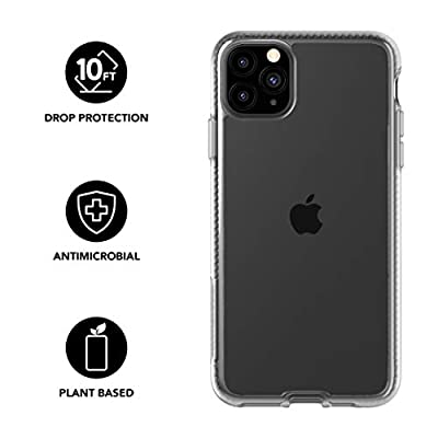 tech21 Pure Clear for Apple iPhone 11 Pro Phone Case - Hygienically Clean Bacterial Fighting Antimicrobial Properties with 10ft Drop Protection, Transparent
