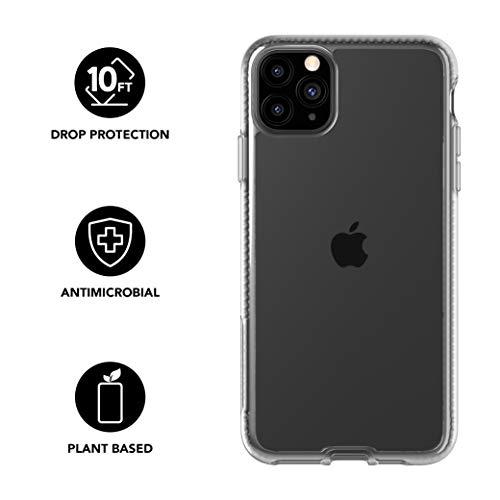 Tech21 Pure Clear Schutzhülle für iPhone 11 Pro Max - Schützende Dünne Schale Beständig Handyhülle - Transparent