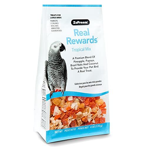 ZuPreem - Alimento para Aves Real Rewards Tropical Mix | Snacks para Loros de Mediano y Gran tamaño - 170 g ⭐