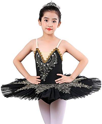 ORIDOOR Girls Camisole Skirted Leotards Swan Dance Performance Costumes Sequin Lace Ballet Dress product image