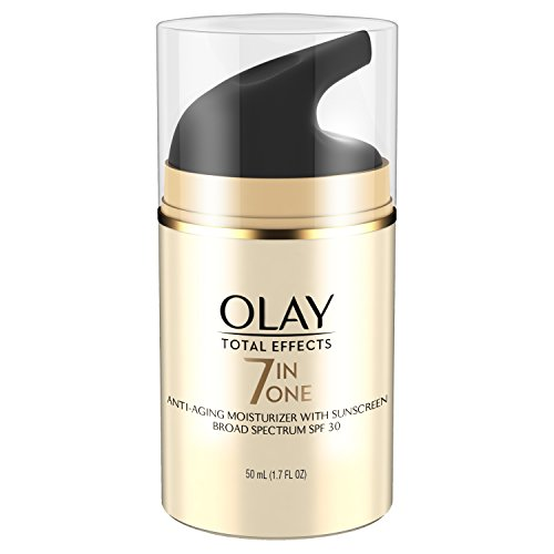 Olay Total Effects 7-in-1 Anti-Aging Daily Face Moisturizer With SPF 30 & Vitamin E, 1.7 fl oz