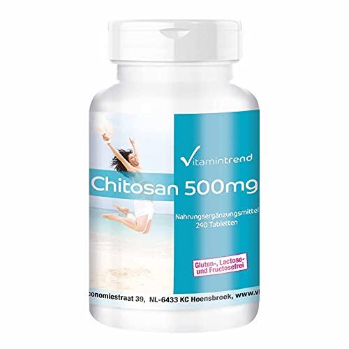 Chitosan 500mg – Quitosano – Bloqueador de grasa – Calidad alemana - 240 comprimidos