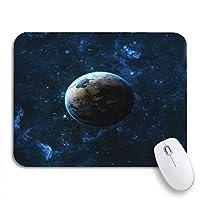 ROSECNY 可愛いマウスパッド この滑り止めゴムの銀河の星の上の宇宙の地球惑星ノートブックマウスマット用バッキングコンピュータマウスパッド