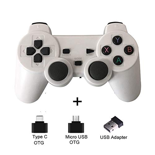 Gamepad Wireless Gamepad For Android Phone/Pc/Ps3/Tv Box Joystick 2.4G Joypad Usb Pc Game Controller For Xiaomi Smart Whitewithoutclip