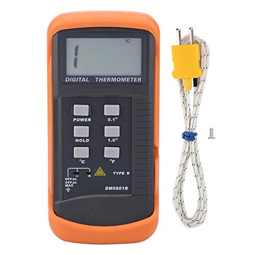 Termómetro Digital de Solo Canal, -50℃~1300℃ Termómetro Tipo K Sensor de Termopar Digital