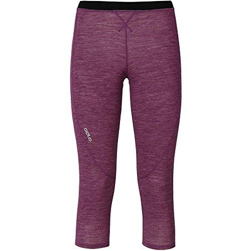 Odlo Pantalon 3/4 Chaud Révolution TW pour Femme XL Magenta Purple Melange