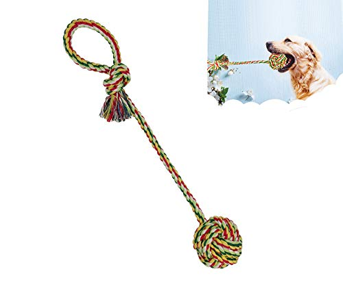 Sunglow Pacific Pups Products Dog Rope Toys, Large/Medium Dog Tug Toy,Medium/Small Dog chew Rope Toys (Tug Toy)