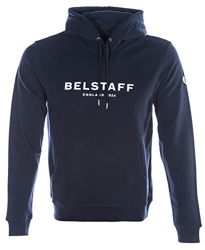 Belstaff Herren Loopback-Baumwolle 1924 Kapuzenpullover XL Navy