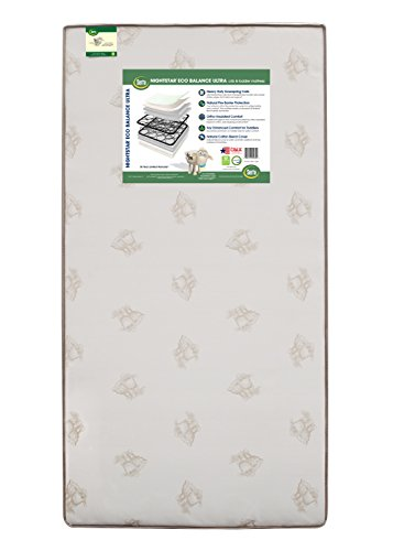 Best Review Of Serta Nightstar Eco Balance Ultra Innerspring Crib and Toddler Mattress | 240 Coils |...