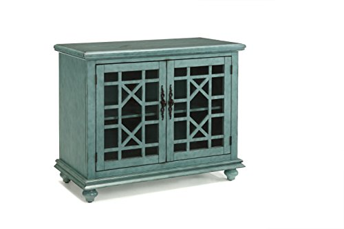 """Martin Svensson Home Accent Cabinet 38"""" W x 32"""" H Teal"""