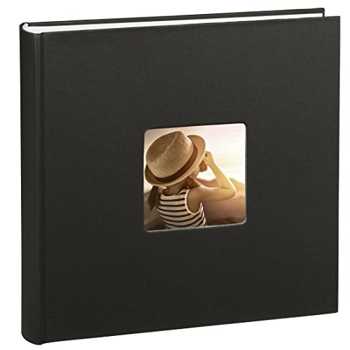 Hama Jumbo Album-photo Fine Art (30 x 30 cm, 100 pages, 50 feuilles, avec encoche pour insertion de la photo) noir