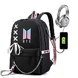 Kinxor Coreano KPOP BTS Ragazzi Zaino a prova di furto Bookbag Zaino da Viaggio Zaino Casual Daypack Laptop / College / Libro e Borsa da Scuola