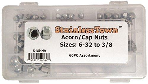Stainless Steel Acorn (Cap) Nut Assortment Kit