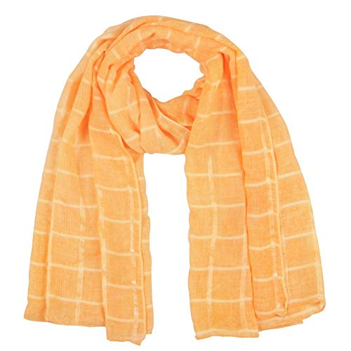 Babero de algodón y lino para otoño e invierno chal grande a cuadros color sólido bufanda