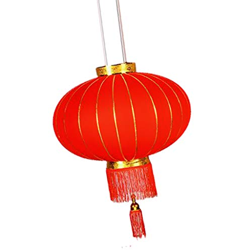 SM SunniMix Traditionelle Rund Laterne Lampions Glücklaterne für Chinesisches Frühlingsfest - L