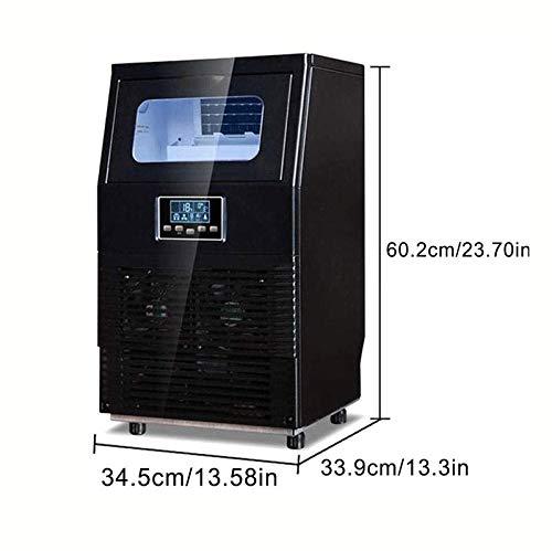 41gnMKN9oCL - HIZLJJ Eiswürfelmaschinen, Kommerzielle Eismaschine, 88LBS / 24h freistehende bewegliche Edelstahl-EIS-Hersteller-Maschine unter Gegen Eismaschine for Restaurants Bars