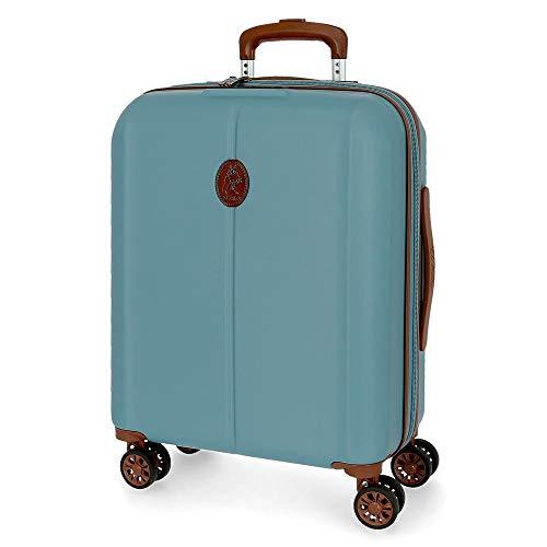 El Potro Ocuri Maleta de Cabina Azul 40x55x20 cms Rígida ABS Cierre TSA 37L 2,9Kgs 4 Ruedas Dobles Equipaje de Mano